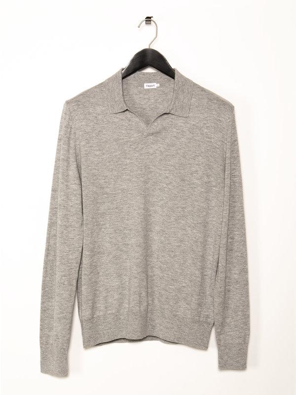 Filippa K Grey Lars Long Sleeves Polo