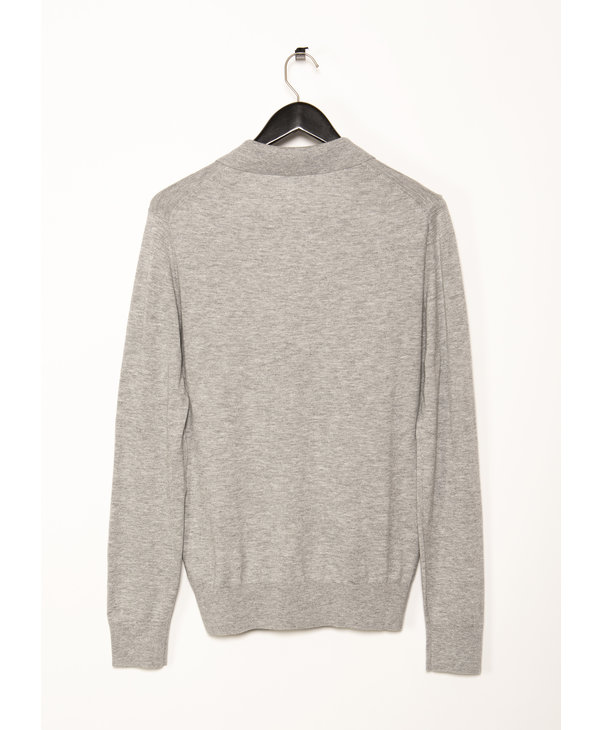Grey Lars Long Sleeves Polo