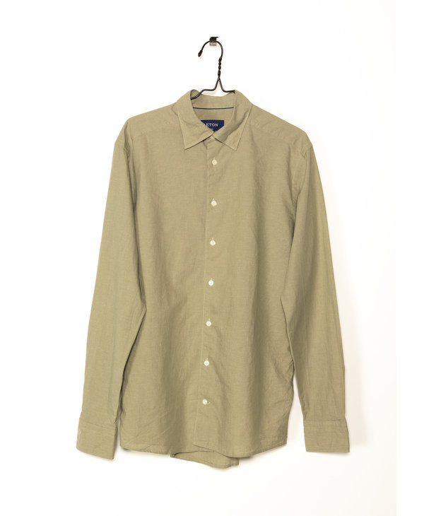Khaki Cotton-Linen shirt