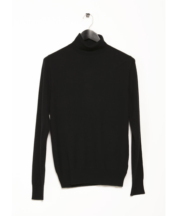 Black Roller Neck Sweater
