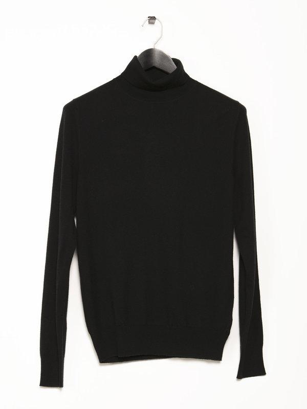 Filippa K Black Roller Neck Shirt