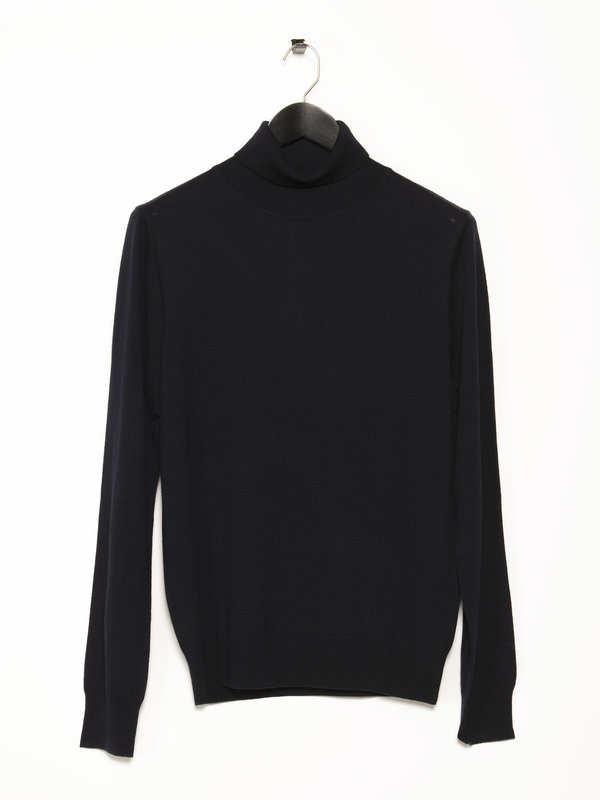 Filippa K Navy Merino Roller Neck Sweater
