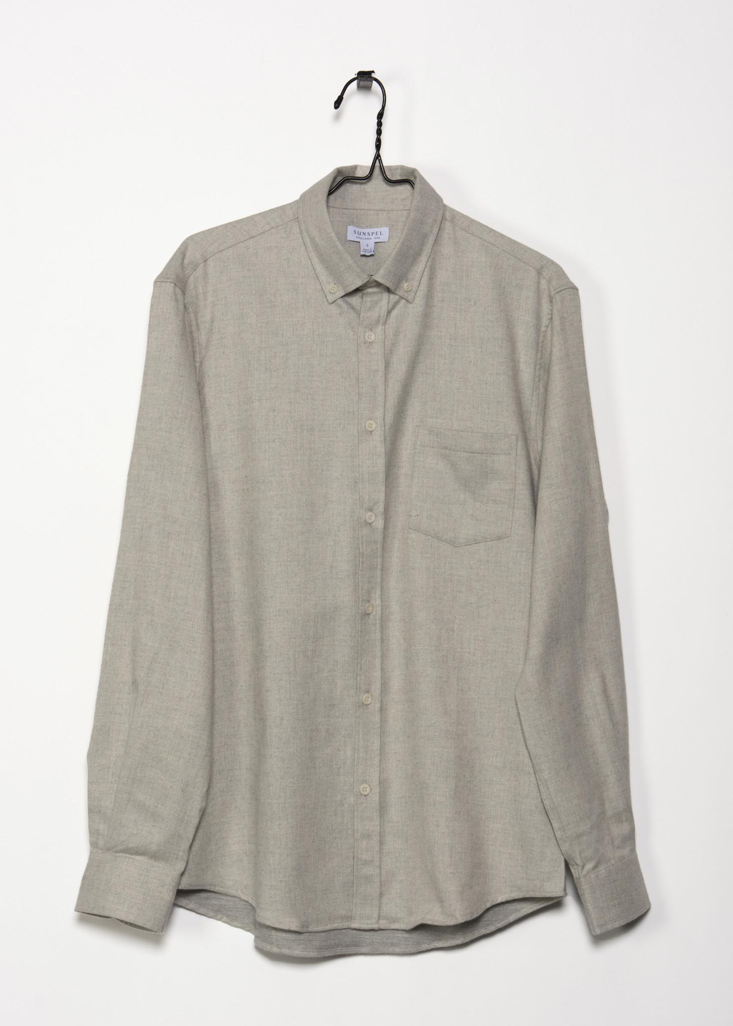 Light Grey Flannel Shirt