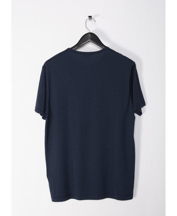 T-Shirt à Col Rond Marine