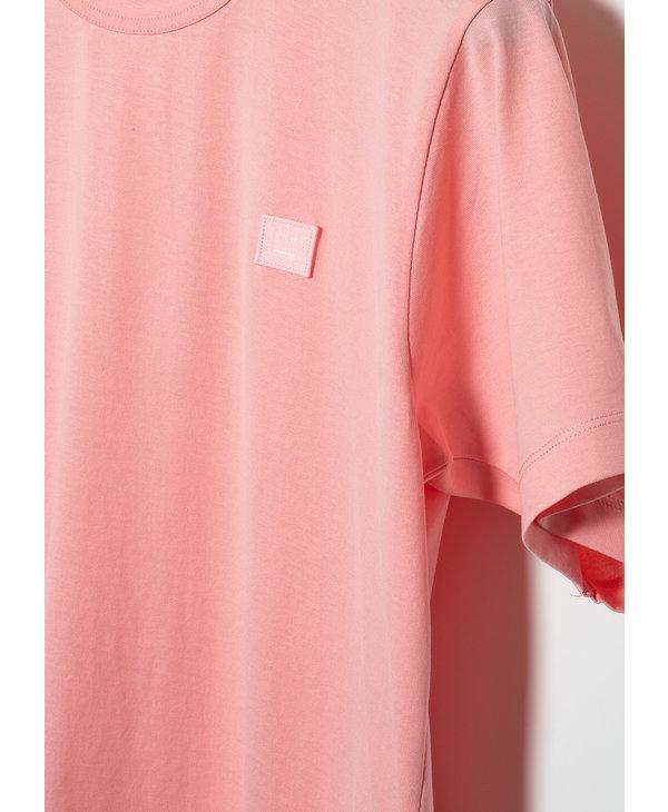 T-Shirt à Col Rond Rose Pale
