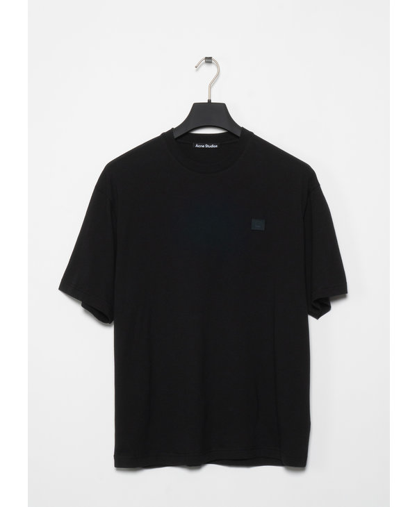 Black Relaxed Fit Crewneck T-Shirt