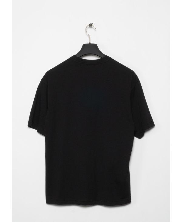 T-Shirt Coupe Ample à Col Rond Noir