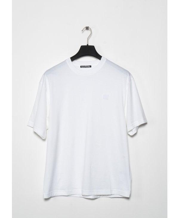 T-Shirt Coupe Ample à Col Rond Blanc