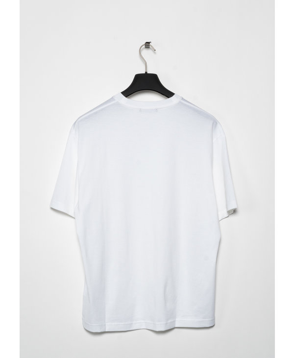 White Relaxed Fit Crewneck T-Shirt