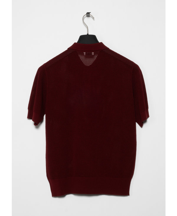 Burgundy  Knit Polo