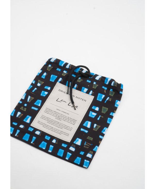 Maillot de Bain à Imprimé Noir et Bleu