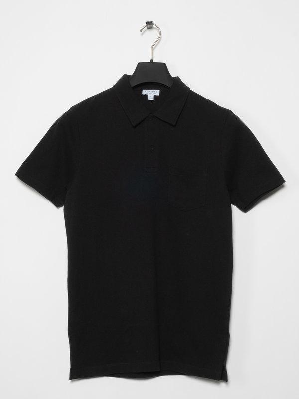 Sunspel Polo Riviera Noir