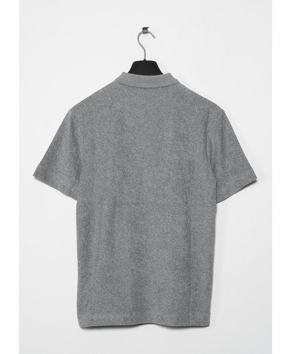 Grey Towelling Polo Shirt