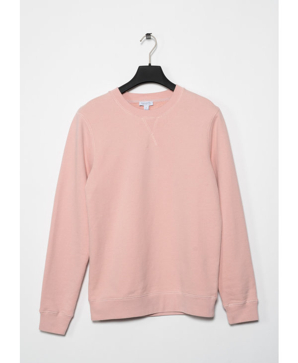 Pink Cotton Loopback Sweater