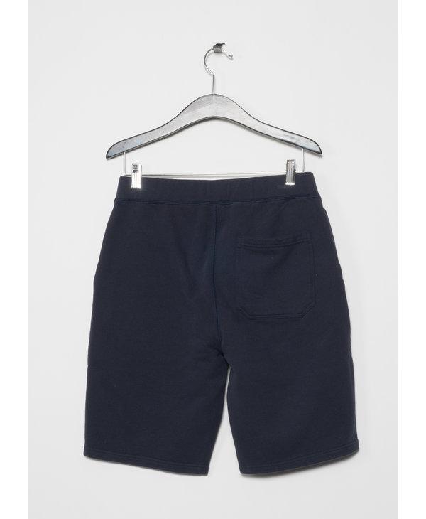 Navy Cotton Loopback Shorts