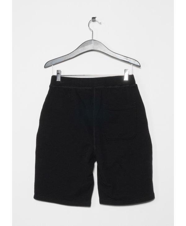 Short Cotton Loopback Noir