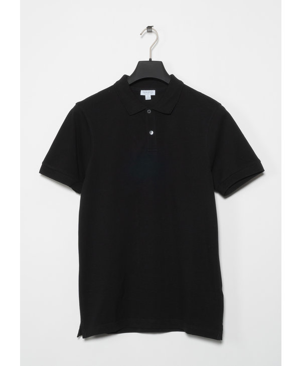 Black Piqué Polo