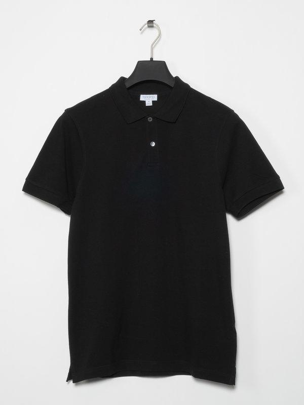 Sunspel Polo Pique Noir