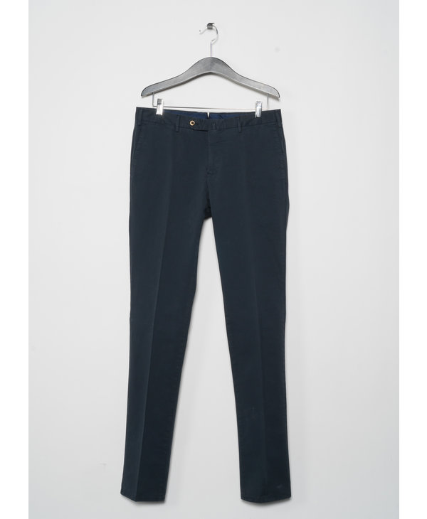 Navy Superslim F.Front Chinos