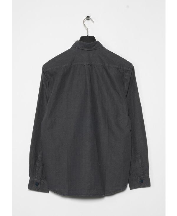 Grey Crisp Herringbone Overshirt