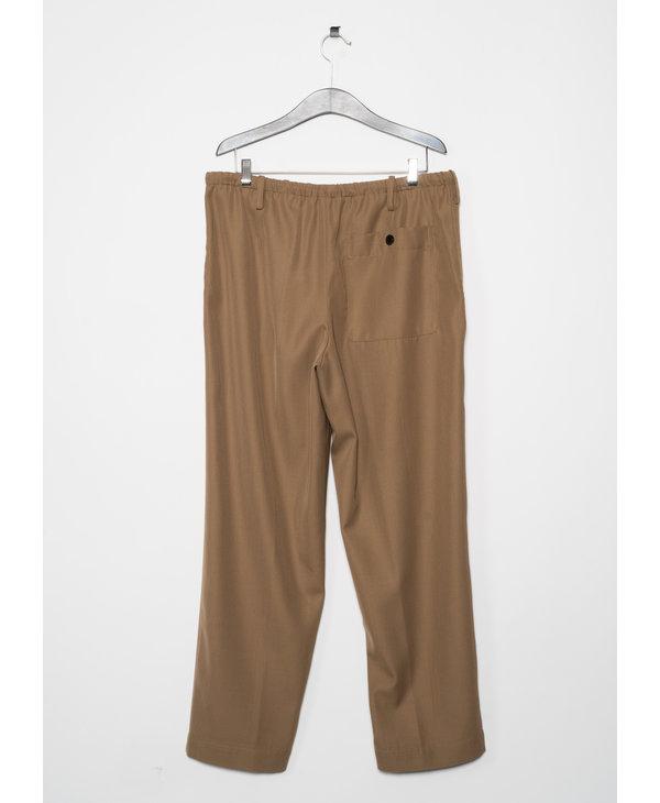 Pantalon à Jambe Large Sable