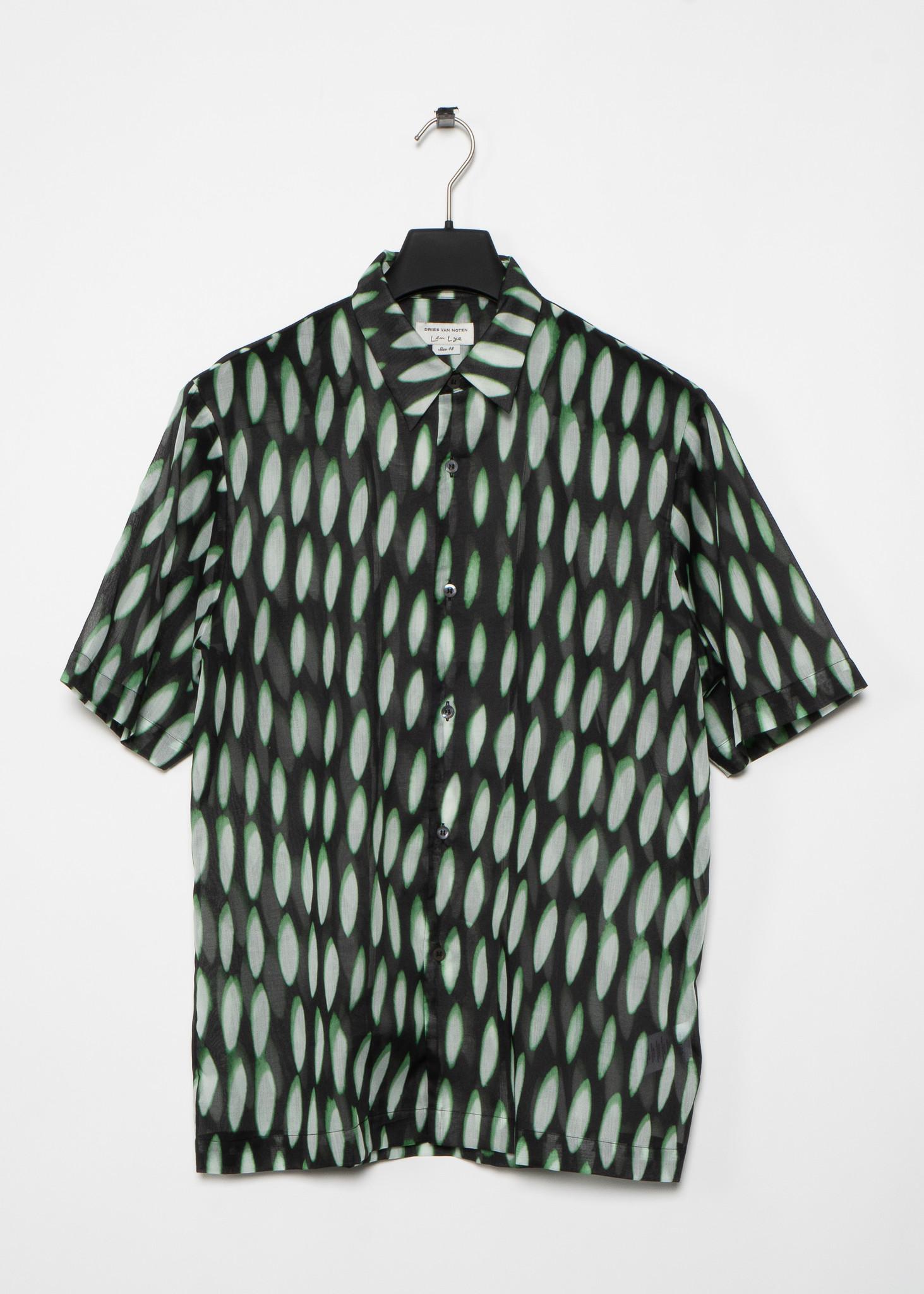 Black and Green Pattern Shirt