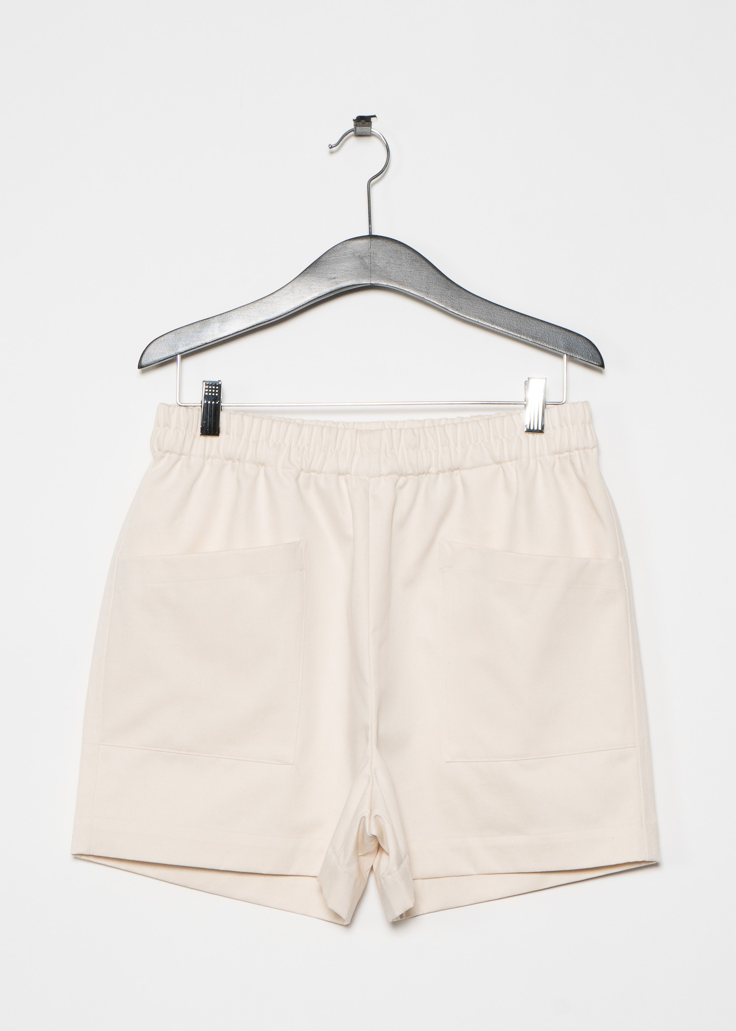 Off White Cropped Short