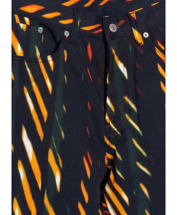 Jeans à Imprimé Orange