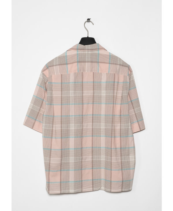 Pink and Brown Short Sleeve Shirt