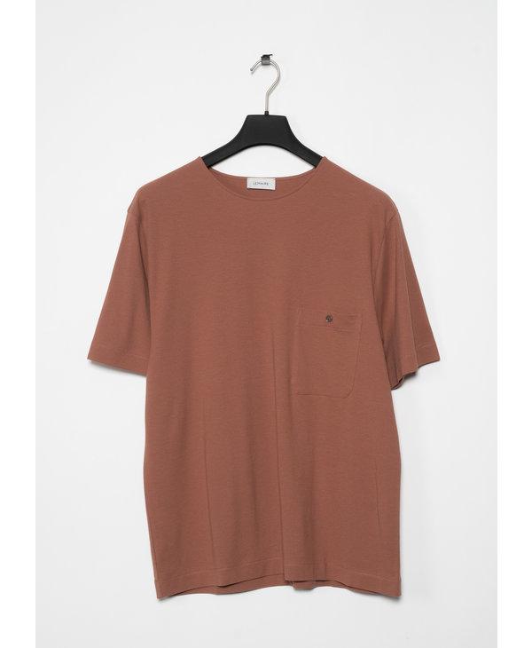 T-shirt Chinois en Jersey Crêpe Sable
