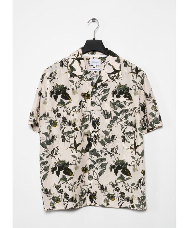 Off-White Floral Print Carsten Short Sleeves Shirt