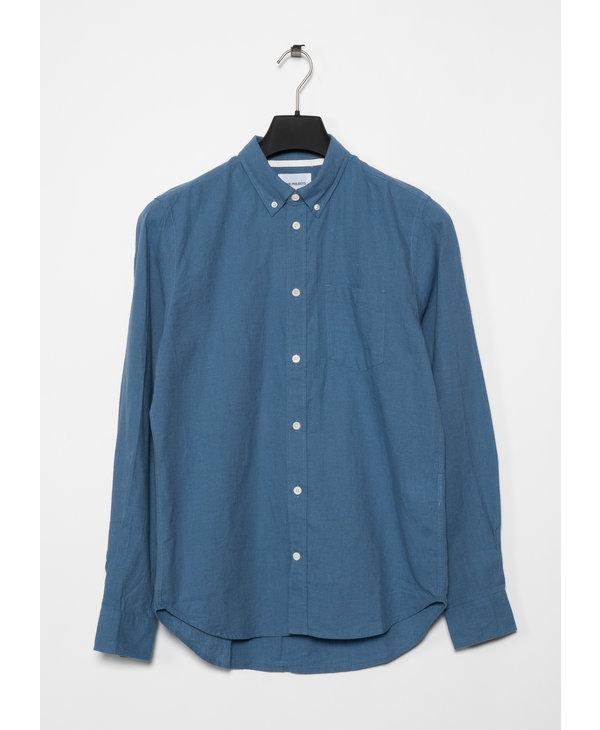 Blue Osvald BD Cotton Linen Shirt