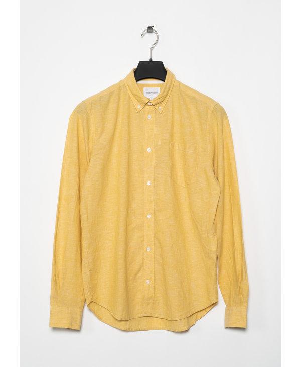 Yellow Osvald BD Cotton Linen Shirt