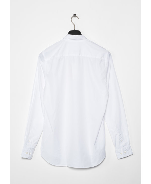 White Hans Classic Poplin Shirt