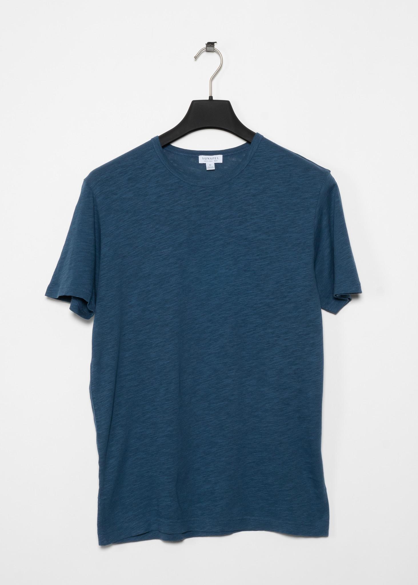 T-shirt Coton Pima et Lin Bleu Gris