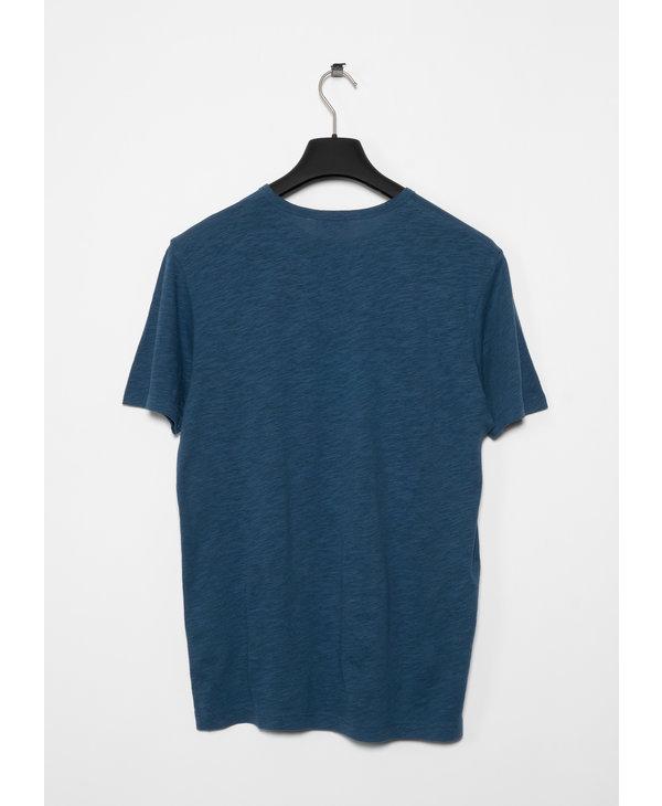 Smoke Blue Pima Cotton Linen T-shirt