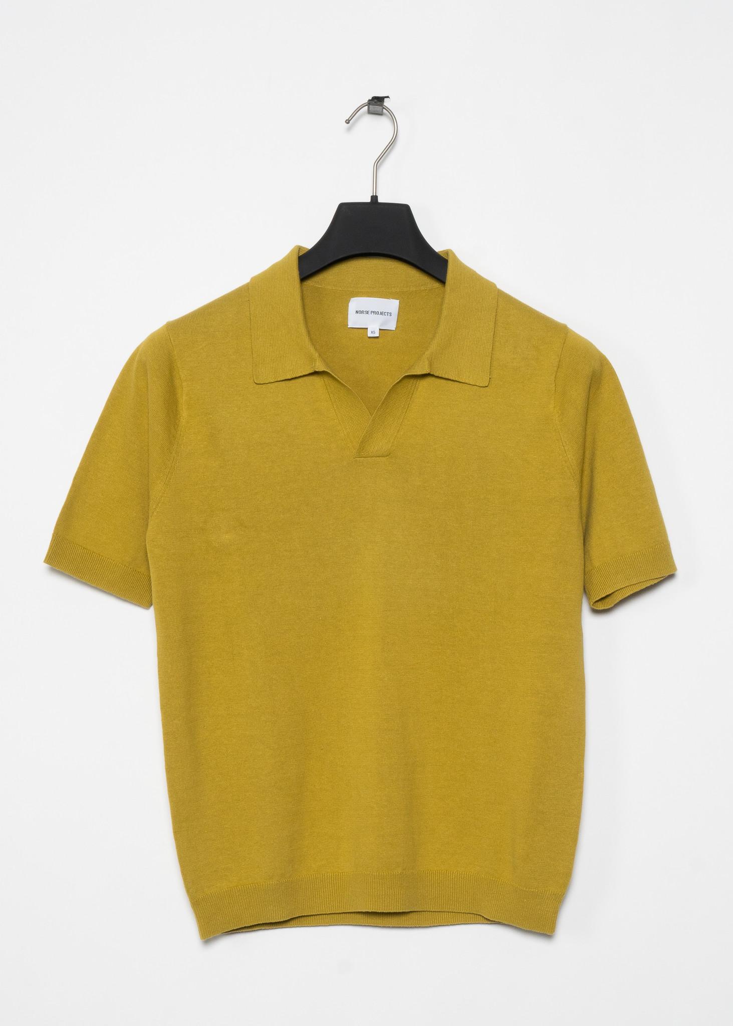 T-shirt Polo Leif Coton Lin Chartreuse