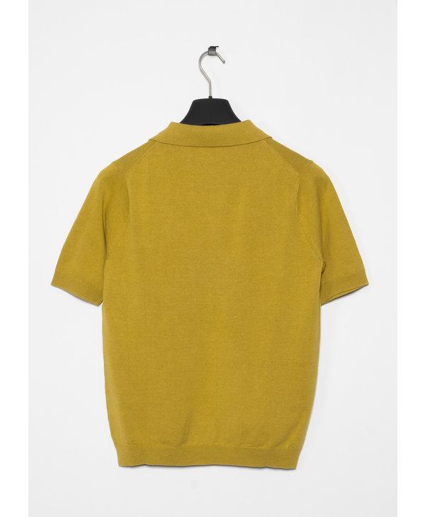 Chartreus Green Leif Cotton Linen Polo