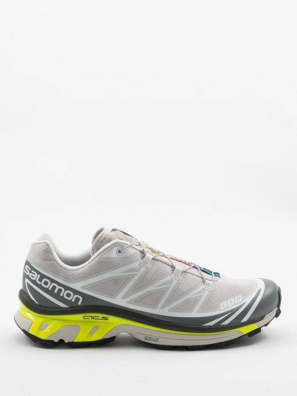 Salomon Advanced Taupe &Grey XT-6 Advanced Sneakers