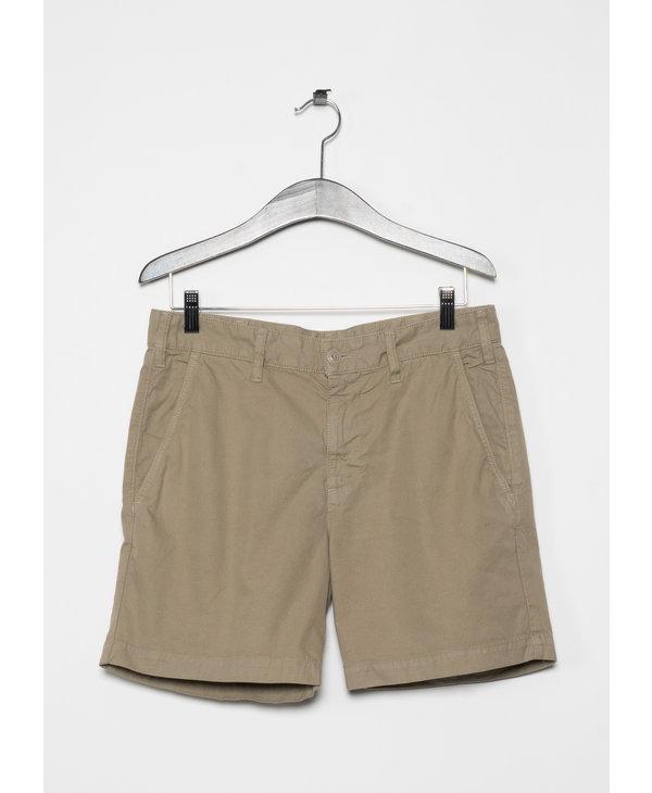 "Beige Twill Standard Bermuda Short 6"""
