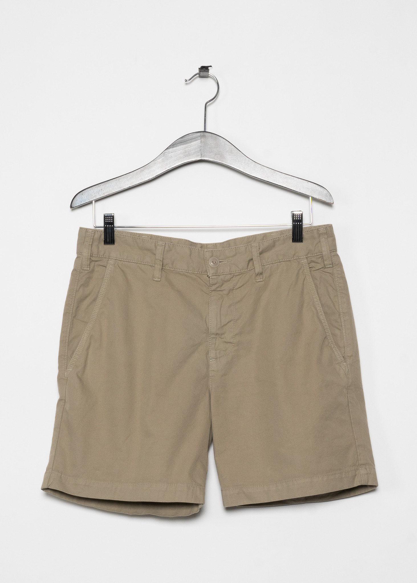 "Shorts Standard Bermuda en Sergé Beige 6"""