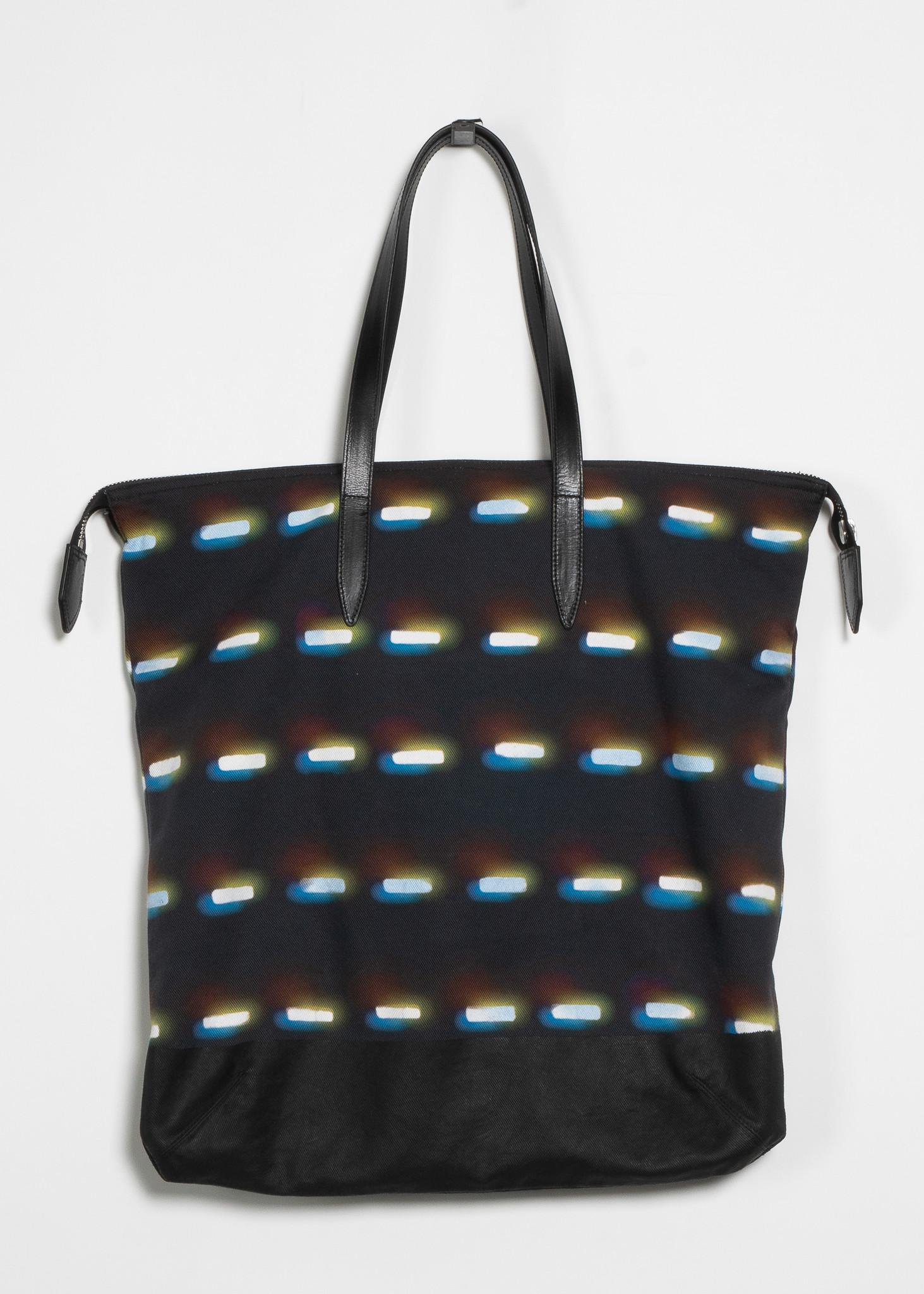 Navy Len Lye Edition Graphic Tote Bag