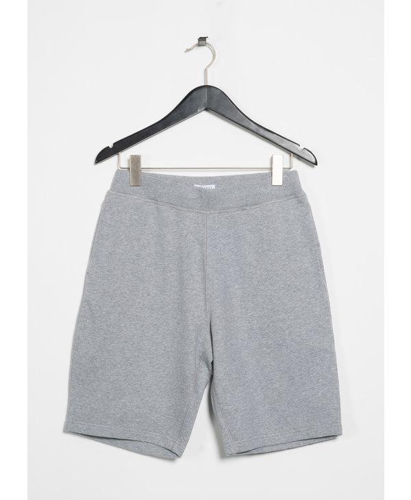 Grey Cotton Loopback Shorts