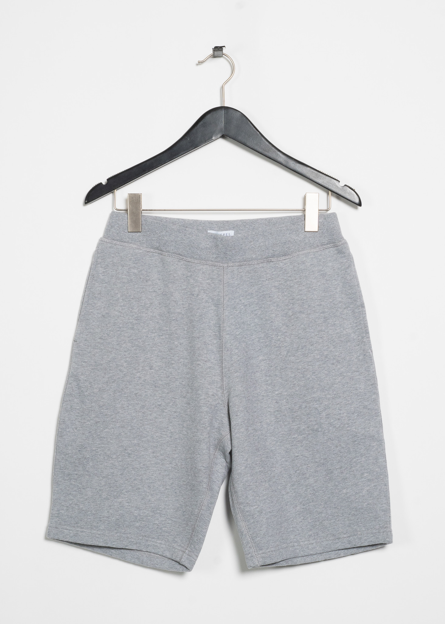 Short Cotton Loopback Gris