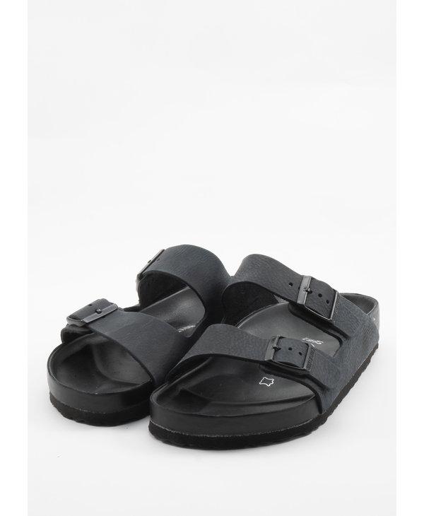 Black Arizona Leather Sandals