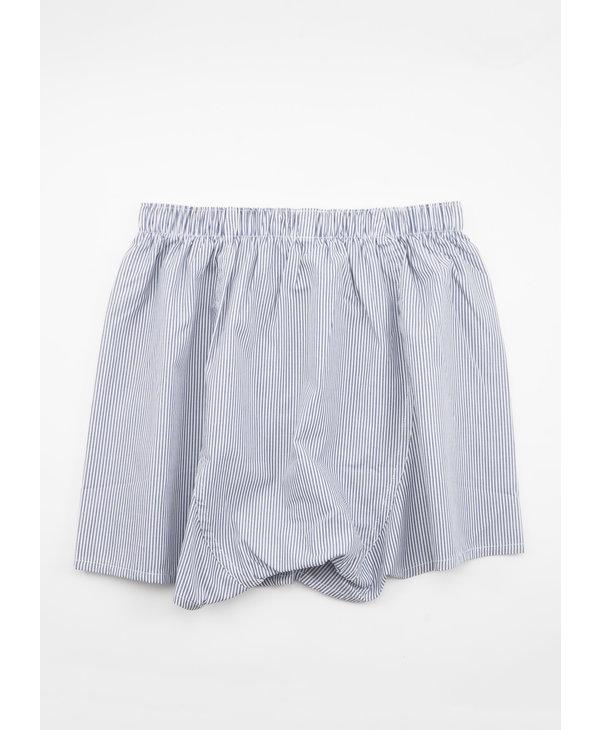 White & Blue Pinstripe Boxer Short