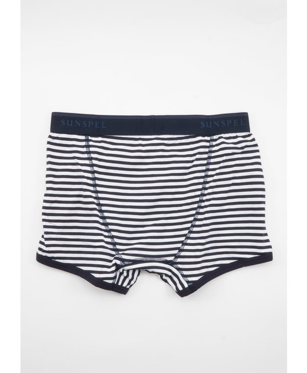 White and Navy Cotton Trunks