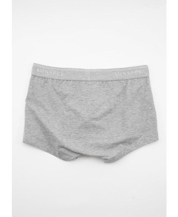 Grey Stretch Cotton Trunks