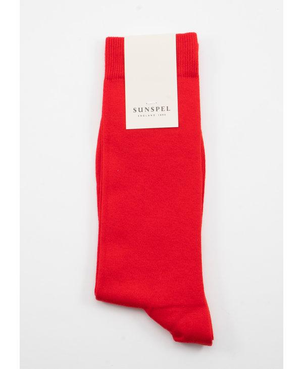 Red Long Staple Cotton socks
