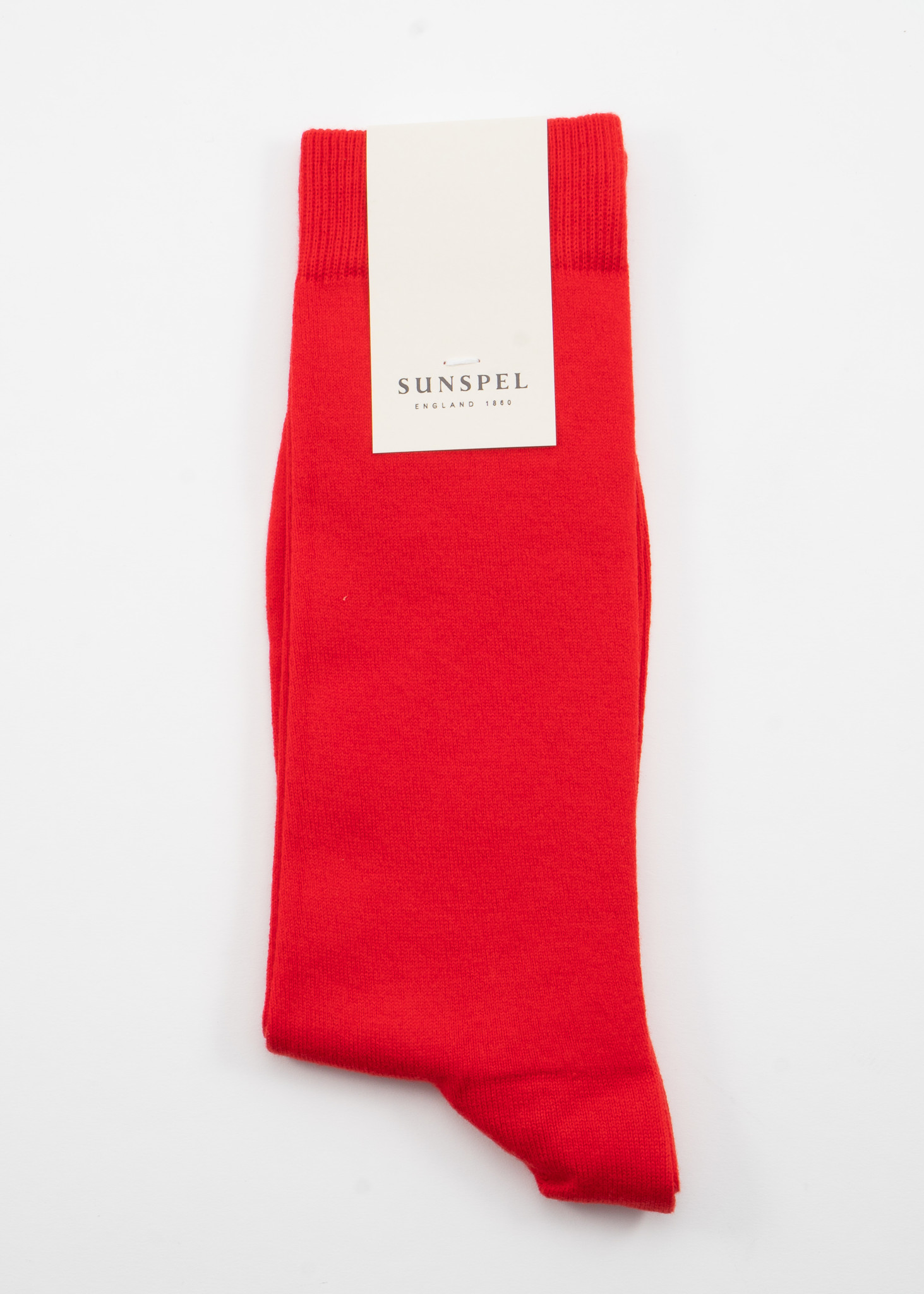Chaussettes longues en Coton Rouge